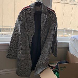 ASOS Checkered Trench Coat w Stripes